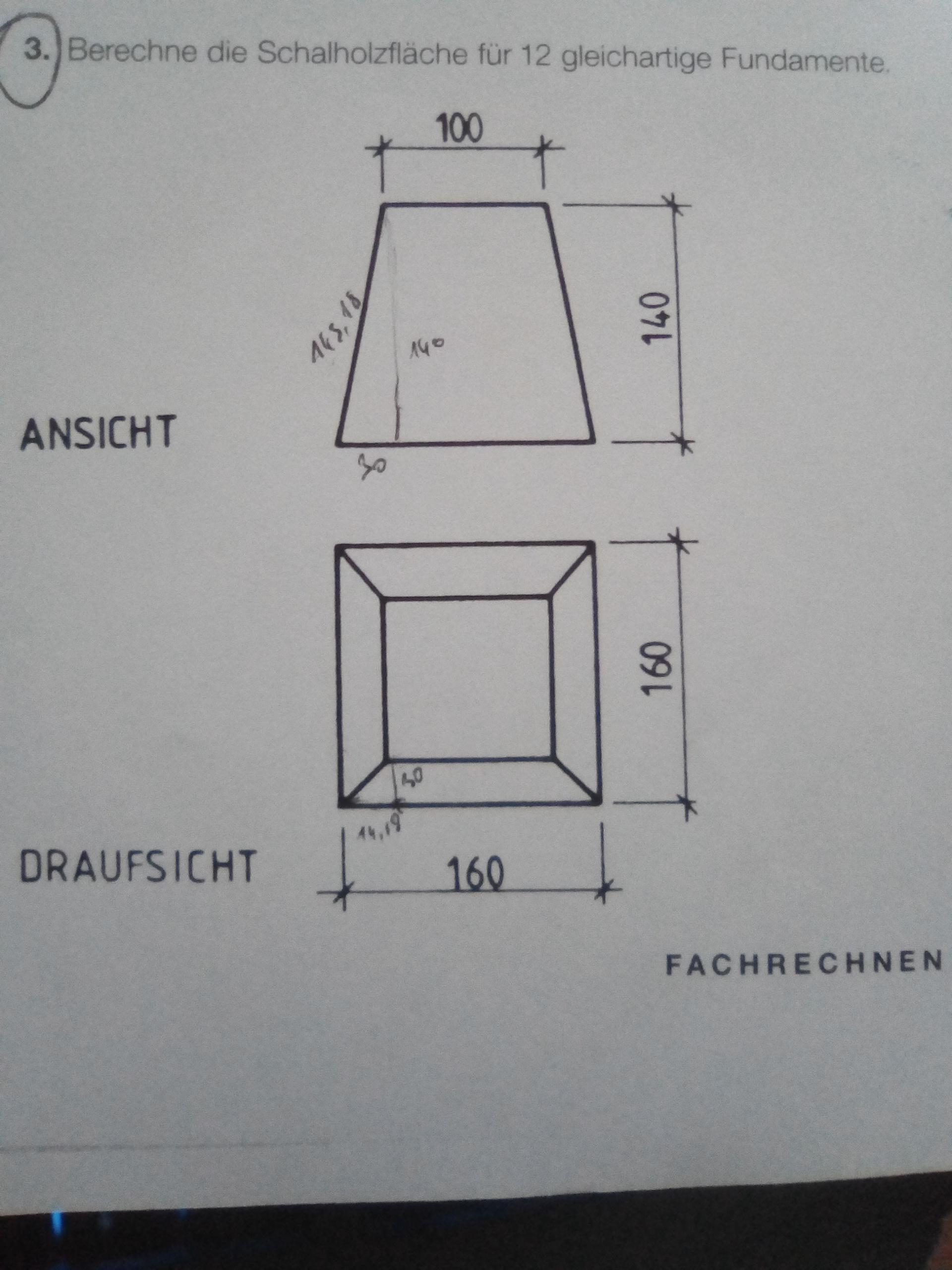 schr ge fl chen berechnen mathematik schr g. Black Bedroom Furniture Sets. Home Design Ideas
