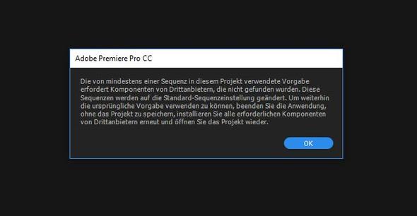 Fehler  - (Adobe, after-effects, Premiere)