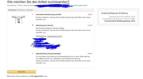 Was sollen die 0 Euro heißen - (Amazon, Rueckzahlung)