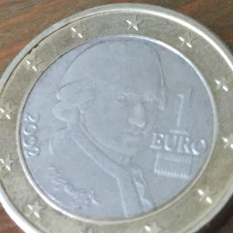 1 Münze österreich 2002 Fehlprägung Euro
