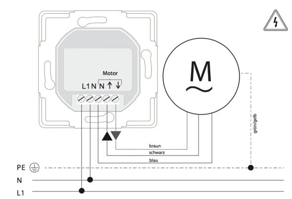 Wie wird die Verkabelung mehrerer elektrischer Rolläden mittels ...