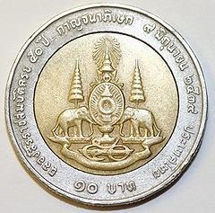 10 Bahts Thailändische Währung Betrug Euromünzen