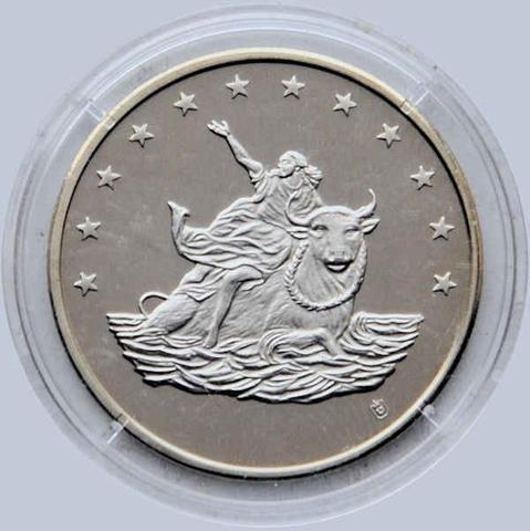 10 Euro Münze Raub Von Europa