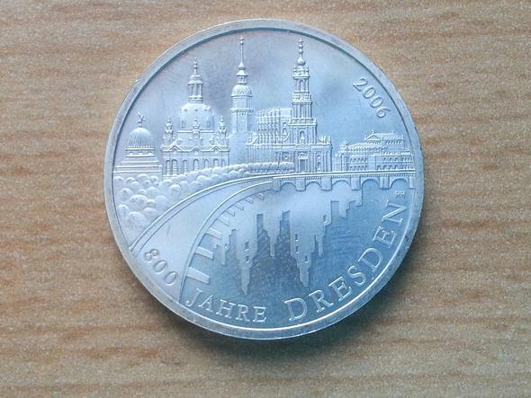 10 Gedenk Silbermünze 800 Jahre Dresden Wie Viel Geld Würde Ich