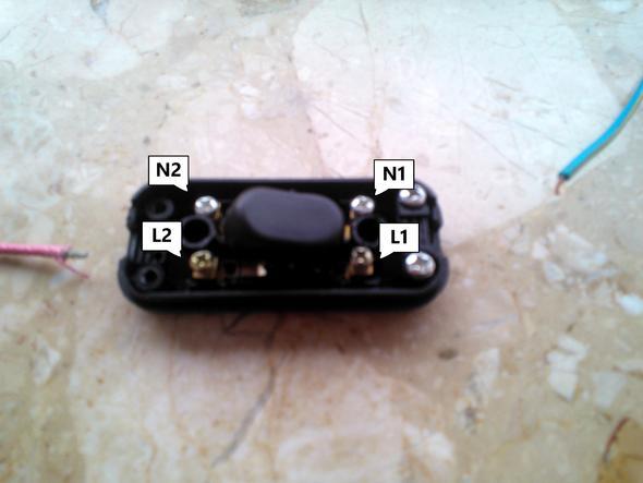 2 1 adrige kabel mit schalter anschlie en wie elektronik elektrik elektrotechnik. Black Bedroom Furniture Sets. Home Design Ideas