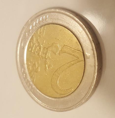 2 Euro Münze Vorderseite 1 - (sammeln, Münzen, Fehlprägung)