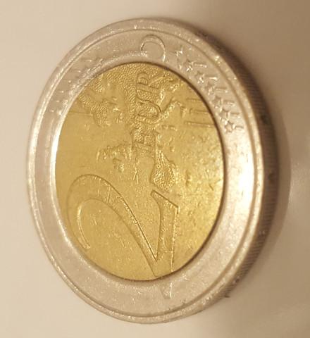 2 Euro Münze Vorderseite 2 - (sammeln, Münzen, Fehlprägung)