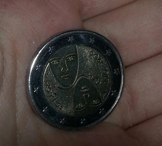 2 Euro Stück Aus Finnland Wertvoll Geld Wert Münzen