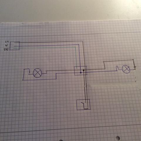 Stromlaufplan  - (Lampe, Schalter)