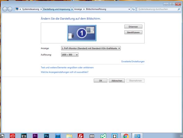 Bildschirmauflösung... - (Windows 7, HDMI, 2-monitore)