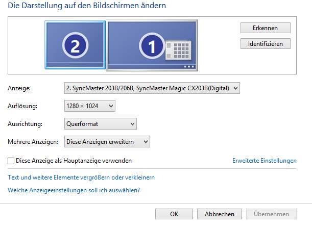 2. Monitor wird erkannt vom PC bleibt aber schwarz