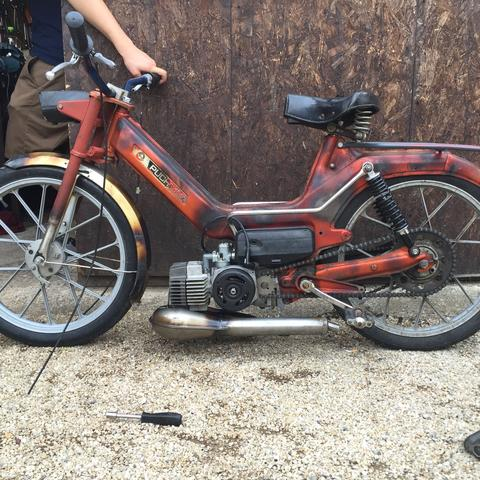 meine puch maxi im ratstyle und static low :-P - (Mofa, Moped, Oldtimer)