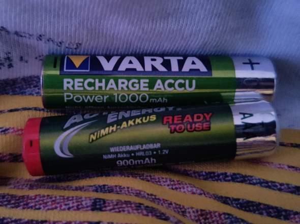 2 Wiederaufladbare Batterien von verschiedenen Marken gleichzeitig nutzen?