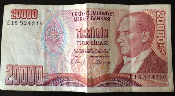 wieviel geld mit in die türkei