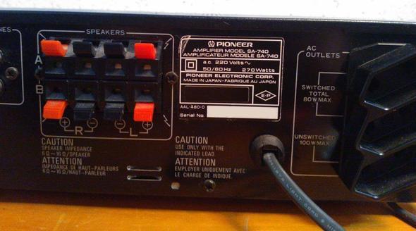 Pioneer SA-740 - (Musik, Party, Boxen)