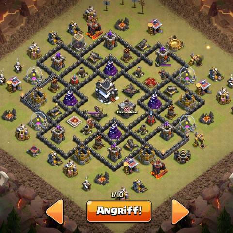 Hier ist die Base  - (clash of clans, 3 Star)