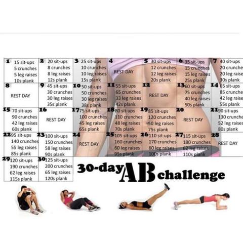 30 Day Ab Challenge Hat Jemand Damit Erfahrungen Sport Mädchen