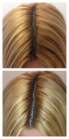 Blond braun gold strähnen Kurze Rot