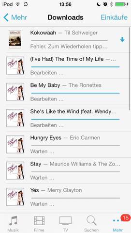 Screenshot iTunes  - (Technik, Recht, Apple)