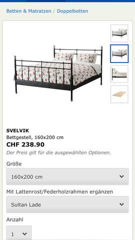 Das Bett von Ikea  - (Einrichtung, Schrank, Metallbett)