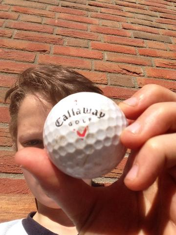 Guckt mal das ist mein Golfball - (Sport, Garten)