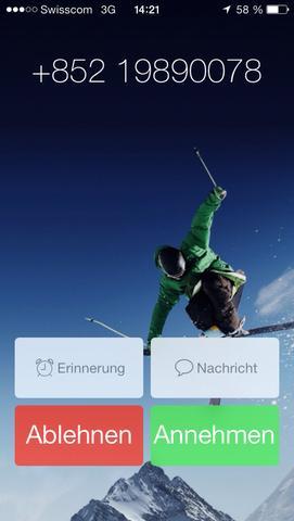 Screenshot der Nummer. - (Technik, Telefon, Nummer)