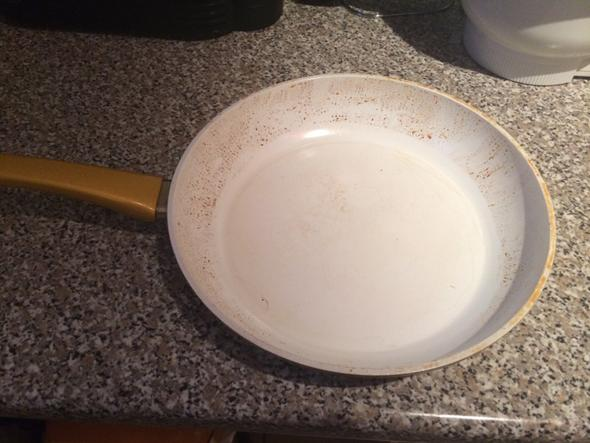 Hier sieht man das Resultat  - (reinigen, Keramikpfanne, cerafit)