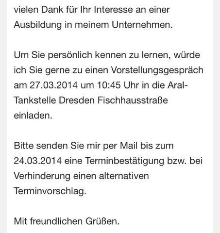 Terminbestatigung Fur Vorstellungsgesprach Per Email Ja Oder