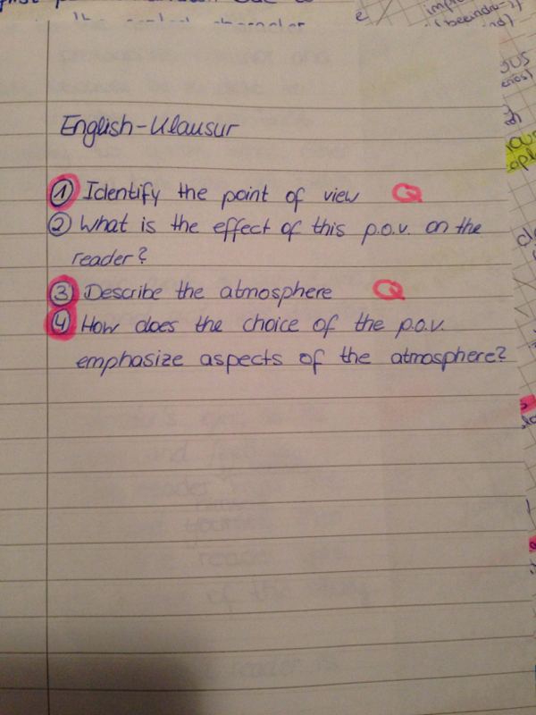 Atmosphärenanalyse Englisch Klausur Analyse Atmosphäre