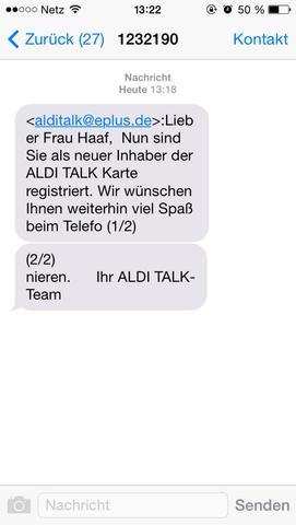 Nachricht - (Handy, Nachrichten, Nummer)