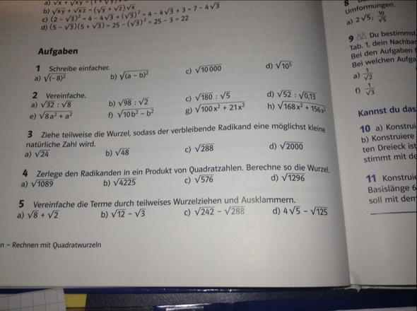 Nr. 3 & 4 - (Mathe, Wurzel, ziehen)