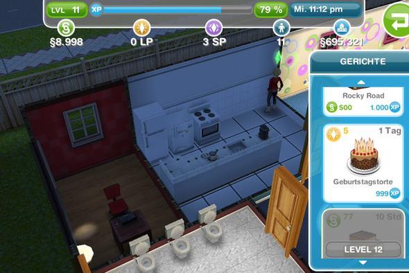 Sims Freispiel wie viel EP für ein Prozent?