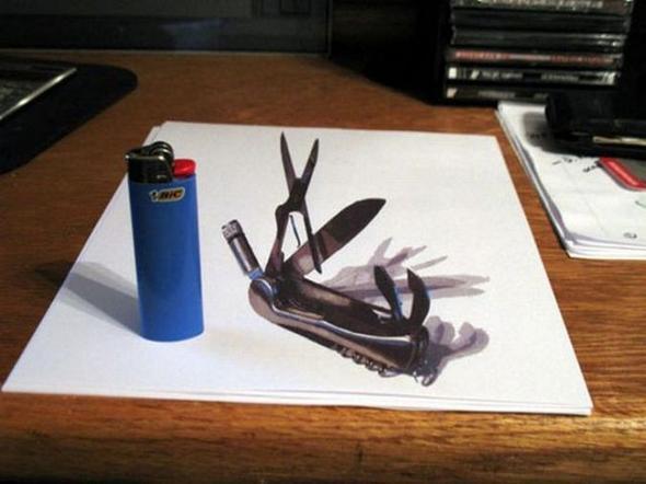 Beispiel - (drucken, 3-D, Blatt Papier)