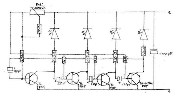 4-Kanal-Lauflicht Schaltung WICHTIG! (Technik, Elektronik, Elektrik)
