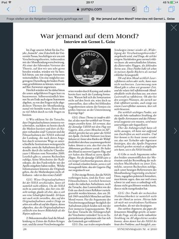 Die erste Seite  - (Weltraum, Mond, verschwörungstheorie)