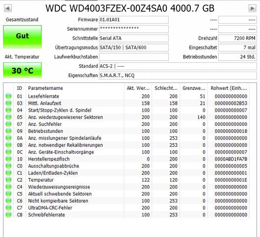 CrystallDiskInfo - (Computer, Festplatte, Speicher)