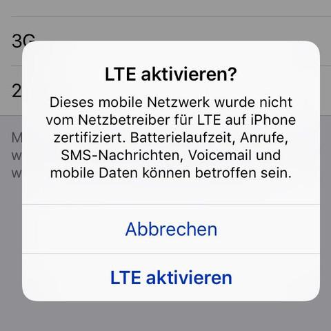 4g steht das immer da  - (Vodafone, lte)