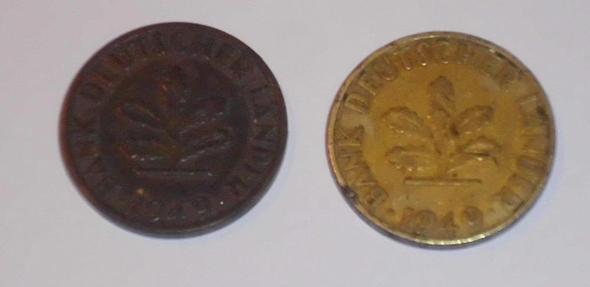 Rückseite - Kupfer links? - (Muenzen, Numismatik, bank-deutscher-laender)