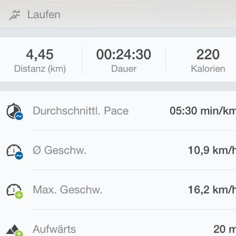 Screenshot von Runtastics. - (Gesundheit, Sport, laufen)