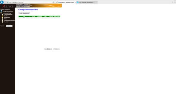 Der Konfigurationsassistent/Netzwerkliste - (WLAN, repeater, 7links)