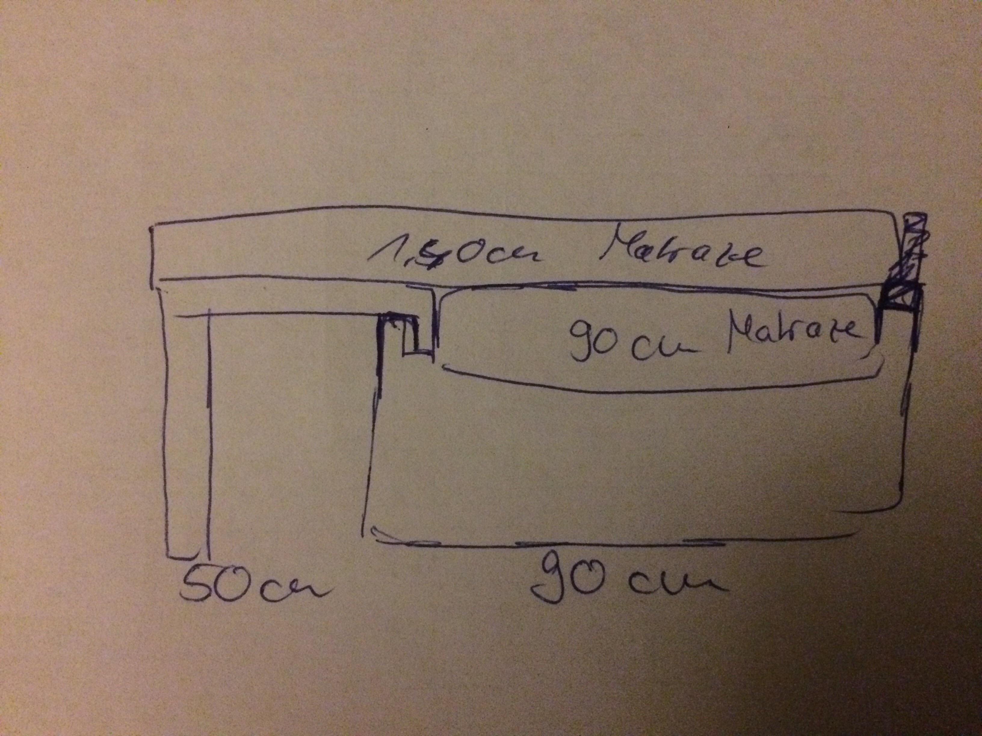 90cm Bett auf 1,40m erweitern + Bild? (Handwerk, handwerklich)