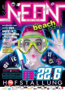 neon-party plakat hofstallung - (Party, Alter, Neon)