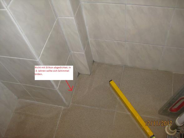 Abdichten Der Wand Und Boden Fliesen Bad