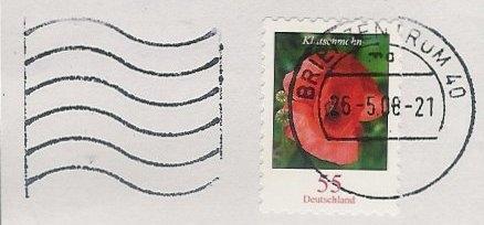 Abgestempelte Briefmarken überkleben Brief
