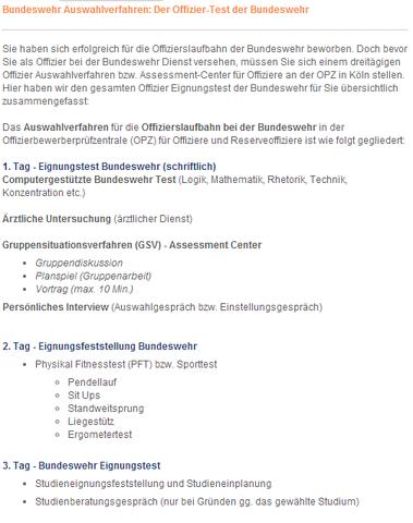 Quelle: http://www.bundeswehr-test.de/auswahlverfahren-offizier/ - (Bundeswehr, Offizier, Offizier Bundeswehr)