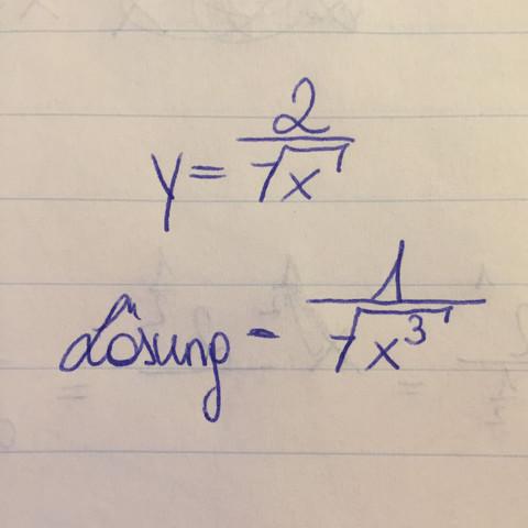 Das ist die Aufgabe - (Mathe, ableiten)