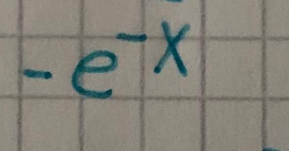 Ableitung von minus e hoch minus x?