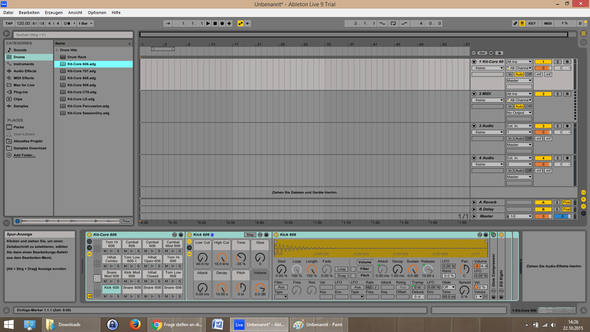 Screenshot von Ableton live 9 als ich die A Taste drückte - (Ableton, midi-controller)