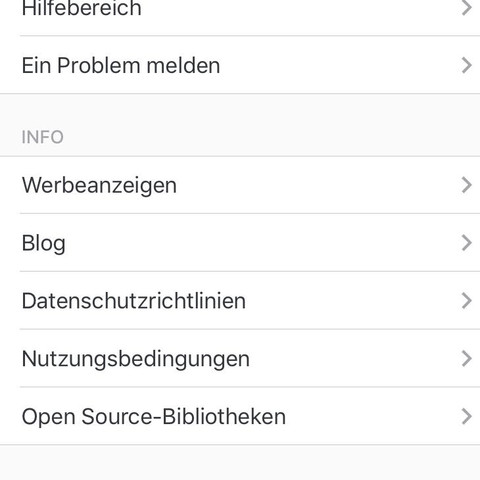 Dort ist kein log out Button  - (Handy, instagram, Funktion)