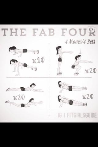 4 Übungen - (Gesundheit, Sport, abnehmen)